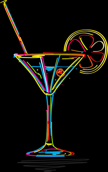 378x600 Delicate Martini Glass Vector Free Vector In Encapsulated