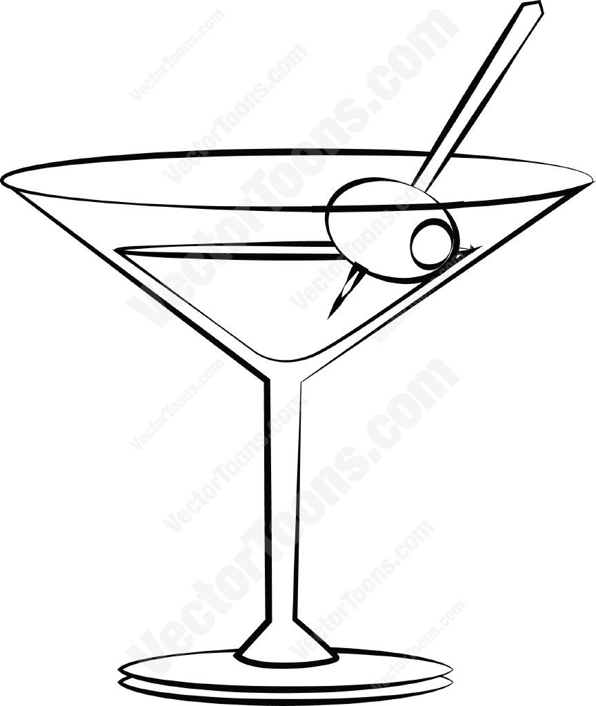 864x1024 Download Black Cocktail Glass Vector Graphic