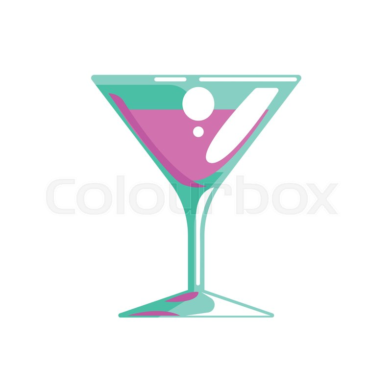 800x800 Fancy Cocktail Served In Martini Glass, Gambling And Casino Night