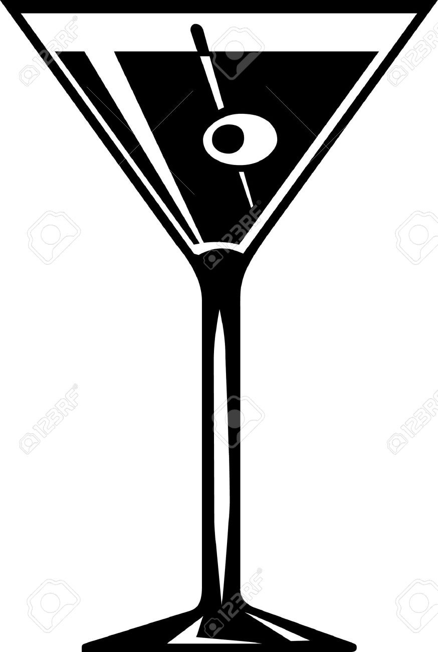 874x1300 Margarita Glass Vector