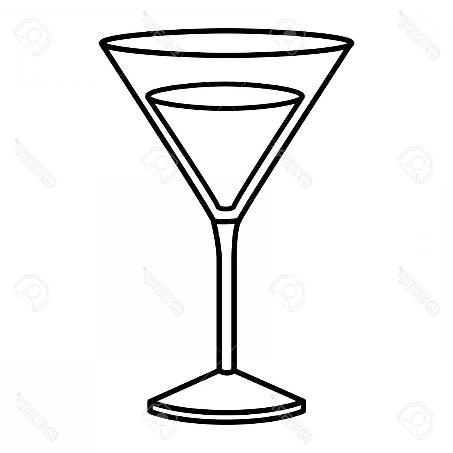 1560x1560 Photostock Vector Monochrome Silhouette Of Drink Cocktail Glass