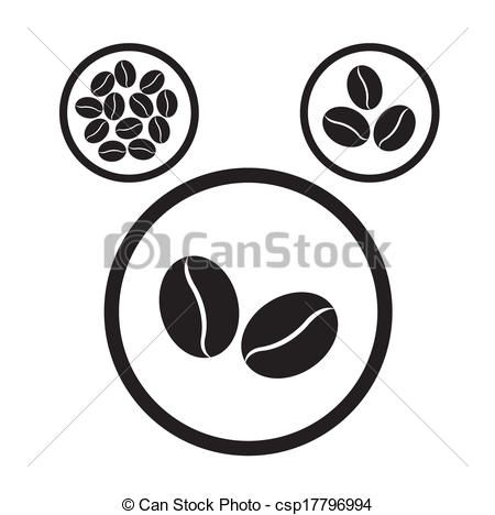 450x468 Eps Vectors Of Coffee Bean Icons Csp17796994