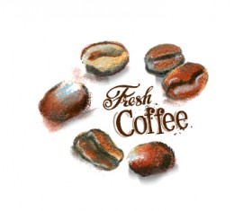 280x235 Coffee Beans Vector