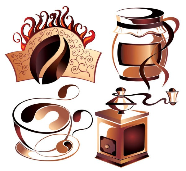 600x551 Coffee Bean Vector Free Download Graphics Collection My Free