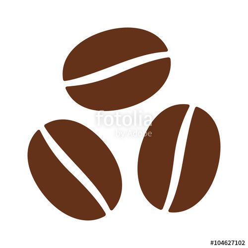 500x500 Coffee Beans Seeds Flat Color Icon For Food Apps And Websites