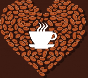 301x268 Coffee With Cup Beans Vectors Stock For Free Download About (3