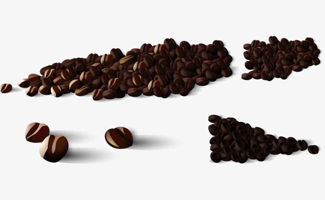 650x400 Vector Hand Painted Coffee Beans, Vector Diagram, Hand, Coffee