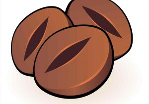 300x210 Coffee Bean Clipart