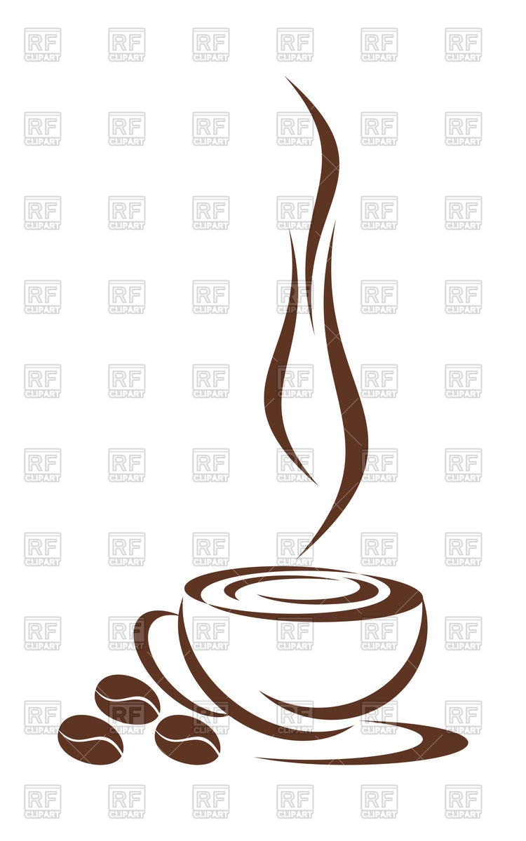 750x1200 Coffee Cup Vector Image Vector Artwork Of Silhouettes, Outlines