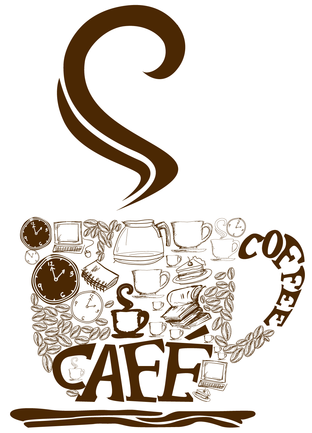 1053x1461 Decorative Coffee Cup Png Vector Clipartu200b Gallery Yopriceville