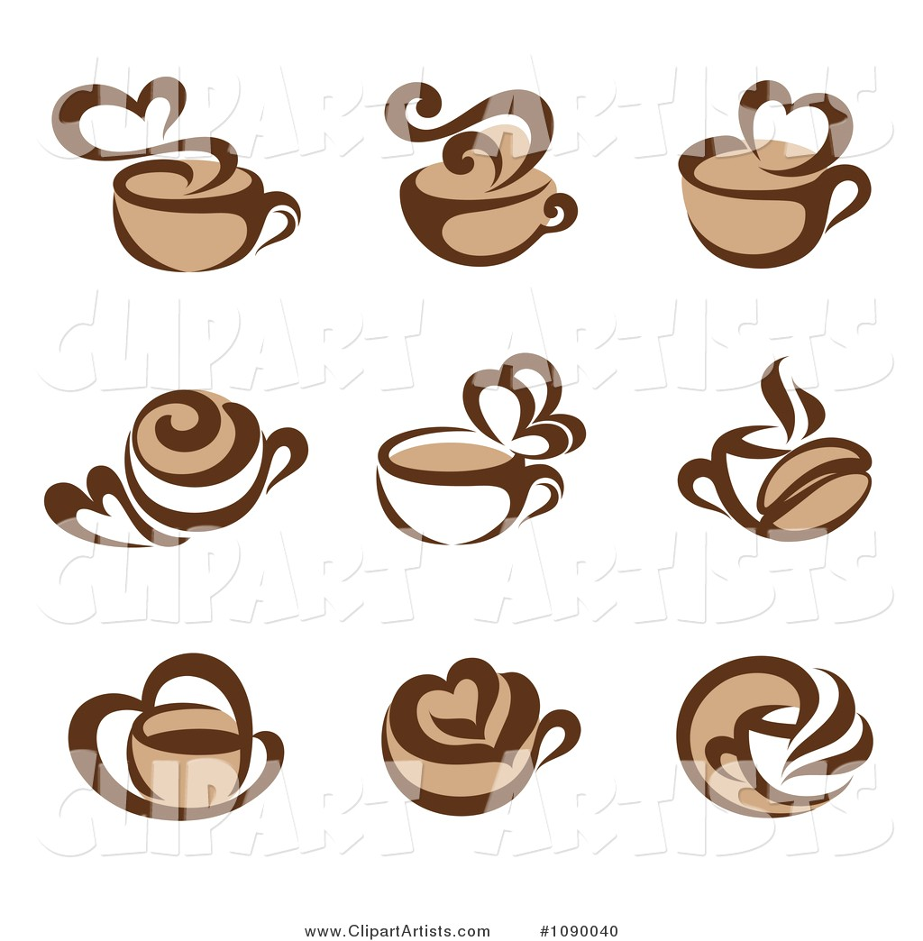 1024x1044 Vector Clipart Coffee Cup And Heart Steam Icons By Elena 1090040