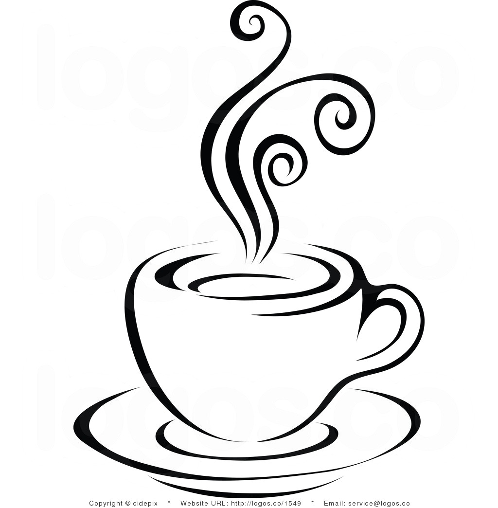 1024x1044 Coffee Clip Art Royalty Free Vector Black And White Steam Latte On
