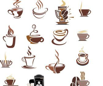 336x280 Coffee Cup Icons Vector Pack