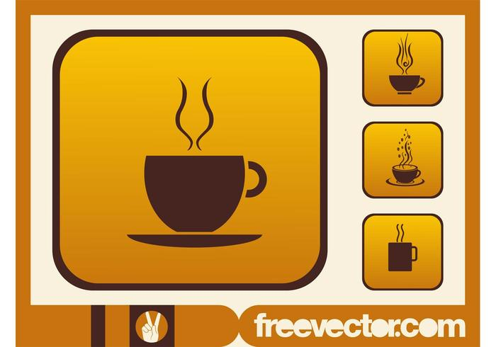 700x490 Coffee Cups Icons