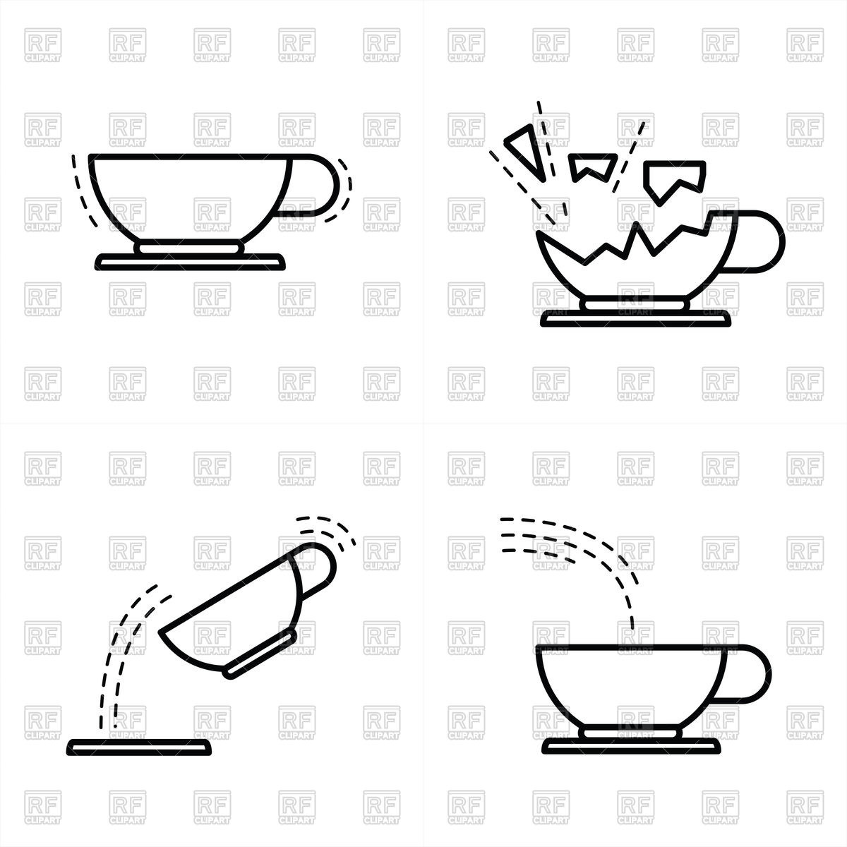 1200x1200 Coffee Cup Icon Line Style Vector Image Vector Artwork Of Food