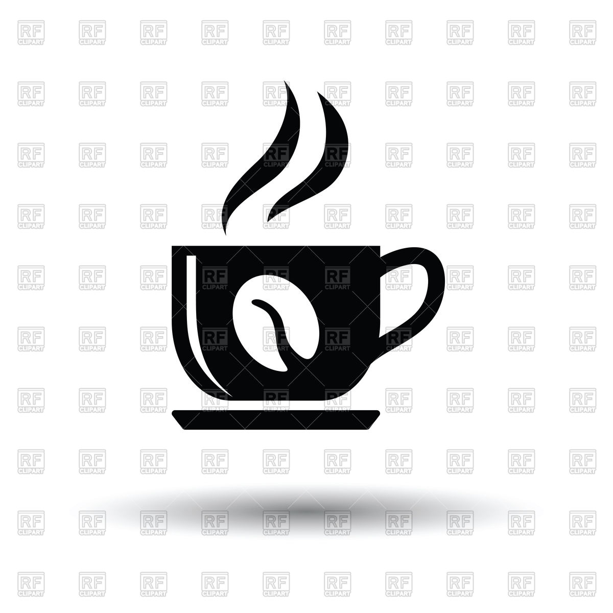1200x1200 Coffee Cup Icon On White Background Vector Image Vector Artwork