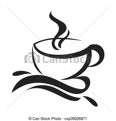450x470 Coffee Cup Icon. Flat Design Coffee Cup Icon Vector Illustration.