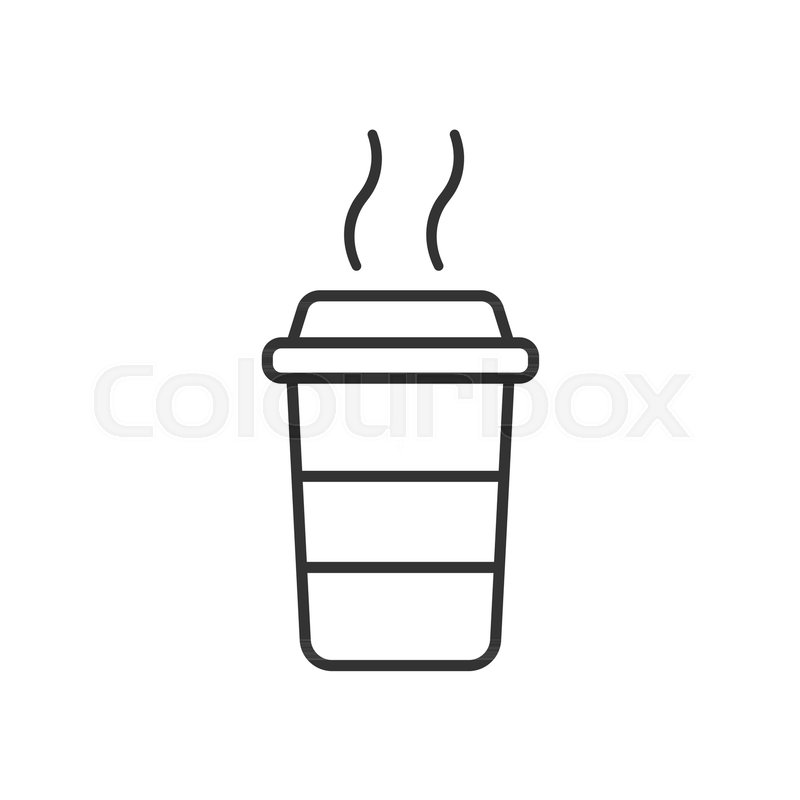 800x800 Coffee Cup Icon. Vector Illustration. Business Concept Coffee Mug