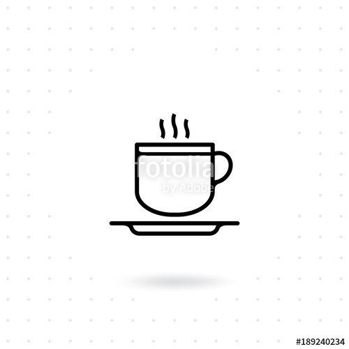 500x500 Coffee Mug Icon. Coffee Cup, Tea Cup Icons In Line Style Design