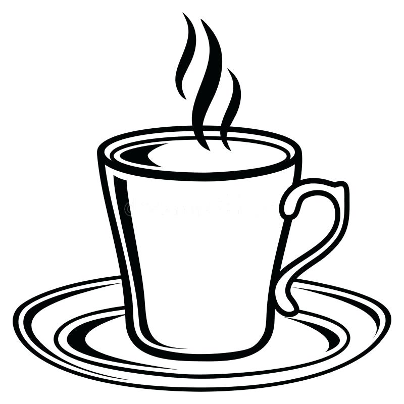 800x800 Download Black And White Coffee Tea Cup Icon Stock Vector