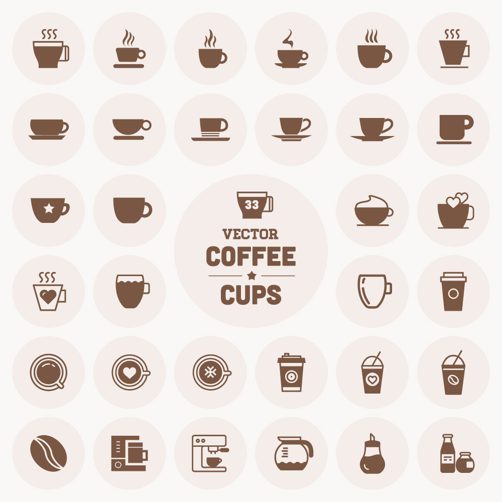 1000x1000 Free Vector Coffee Cup Icons Cup Icons Free Download
