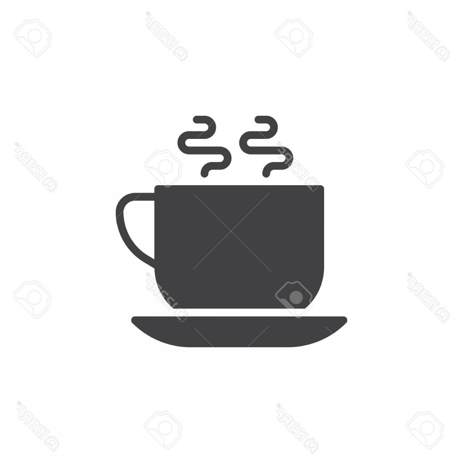1560x1560 Photostock Vector Hot Coffee Cup Icon Vector Filled Flat Sign