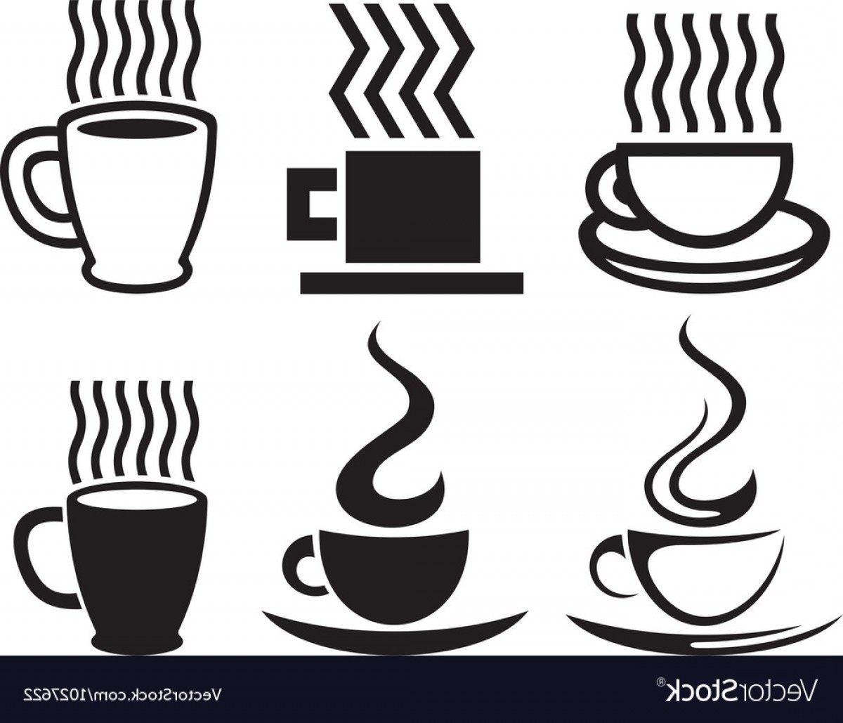 1200x1029 Set Of Coffee Cup Icons Vector Shopatcloth