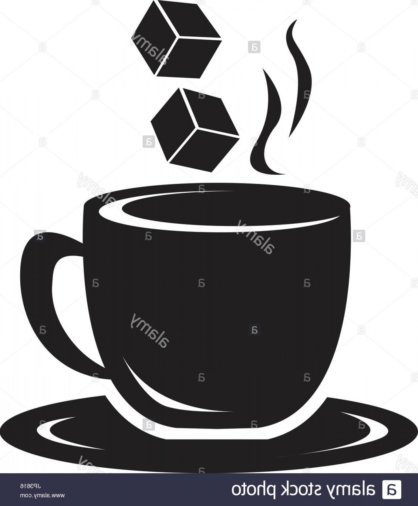 1378x1668 Stock Photo Coffee Cup Icon With Sugar Cubes Silhouette On White