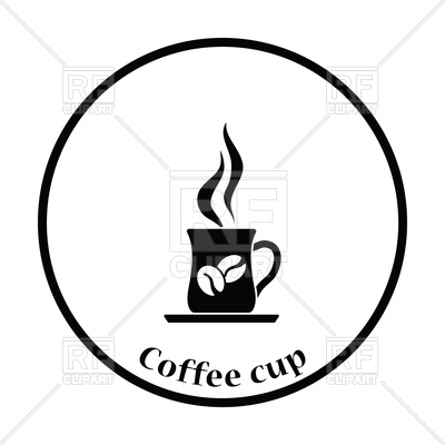 400x400 Thin Circle Design Of Coffee Cup Icon Vector Image Vector