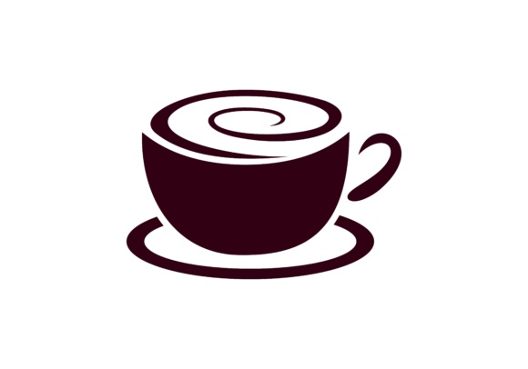 580x406 Coffee Cup Vector Logo Design. Cafe Icon Symbol Graphic By Deemka