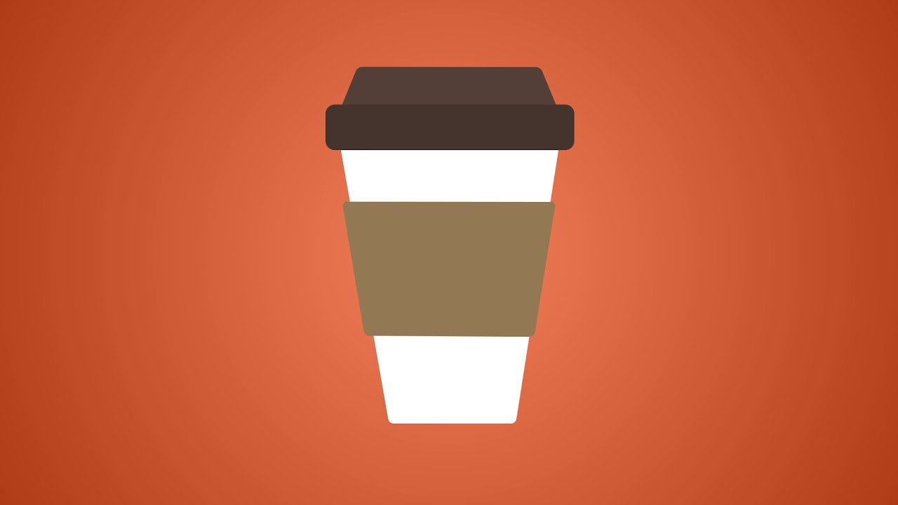 1280x720 2d Coffee Cup Vector Animated Icon