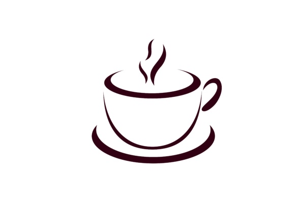580x406 Coffee Cup Vector Logo. Cafe Icon Symbol Graphic By Deemka Studio