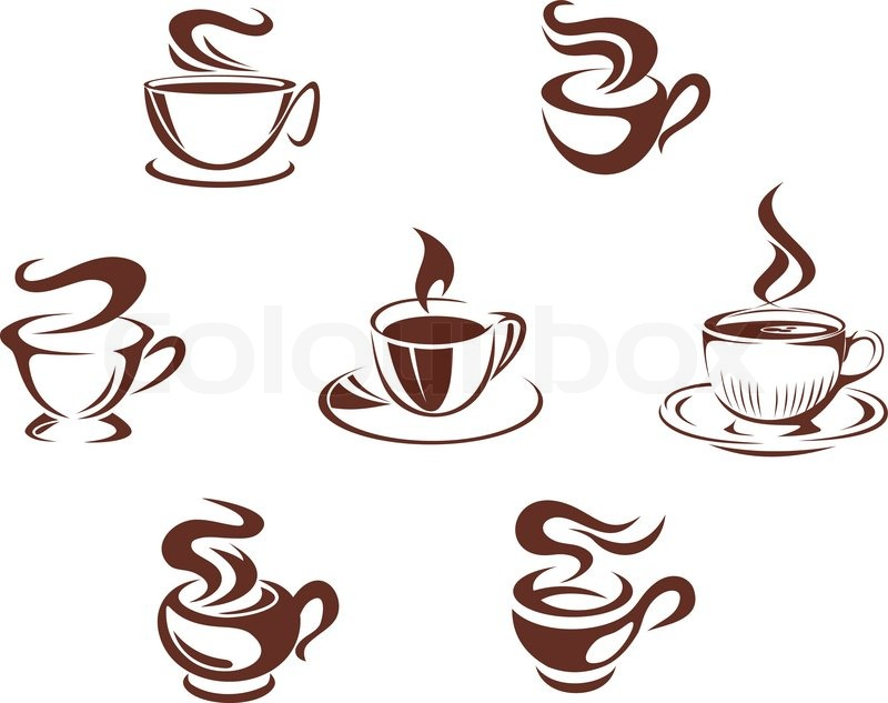 800x633 Coffee Cups And Mugs Stock Vector Colourbox