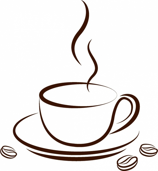 554x600 Cup Of Coffee Free Vector In Adobe Illustrator Ai ( .ai