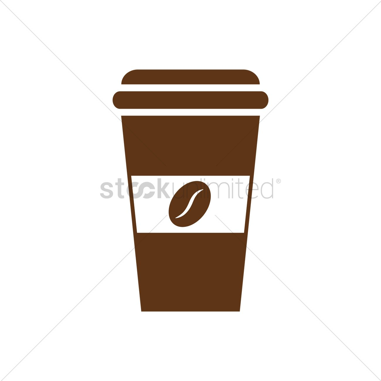 1300x1300 Takeaway Coffee Cup Vector Image