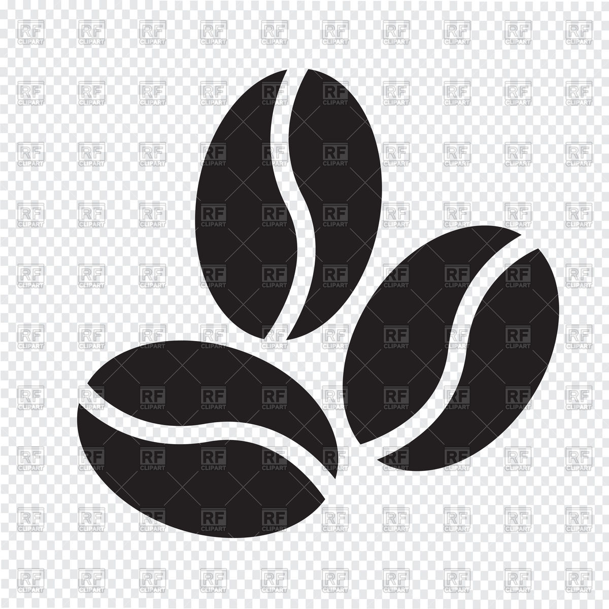 1200x1200 Coffee Beans Icon Vector Image Vector Artwork Of Signs, Symbols