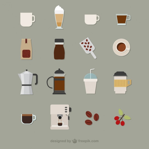 626x626 Coffee Icons Vector Free Download