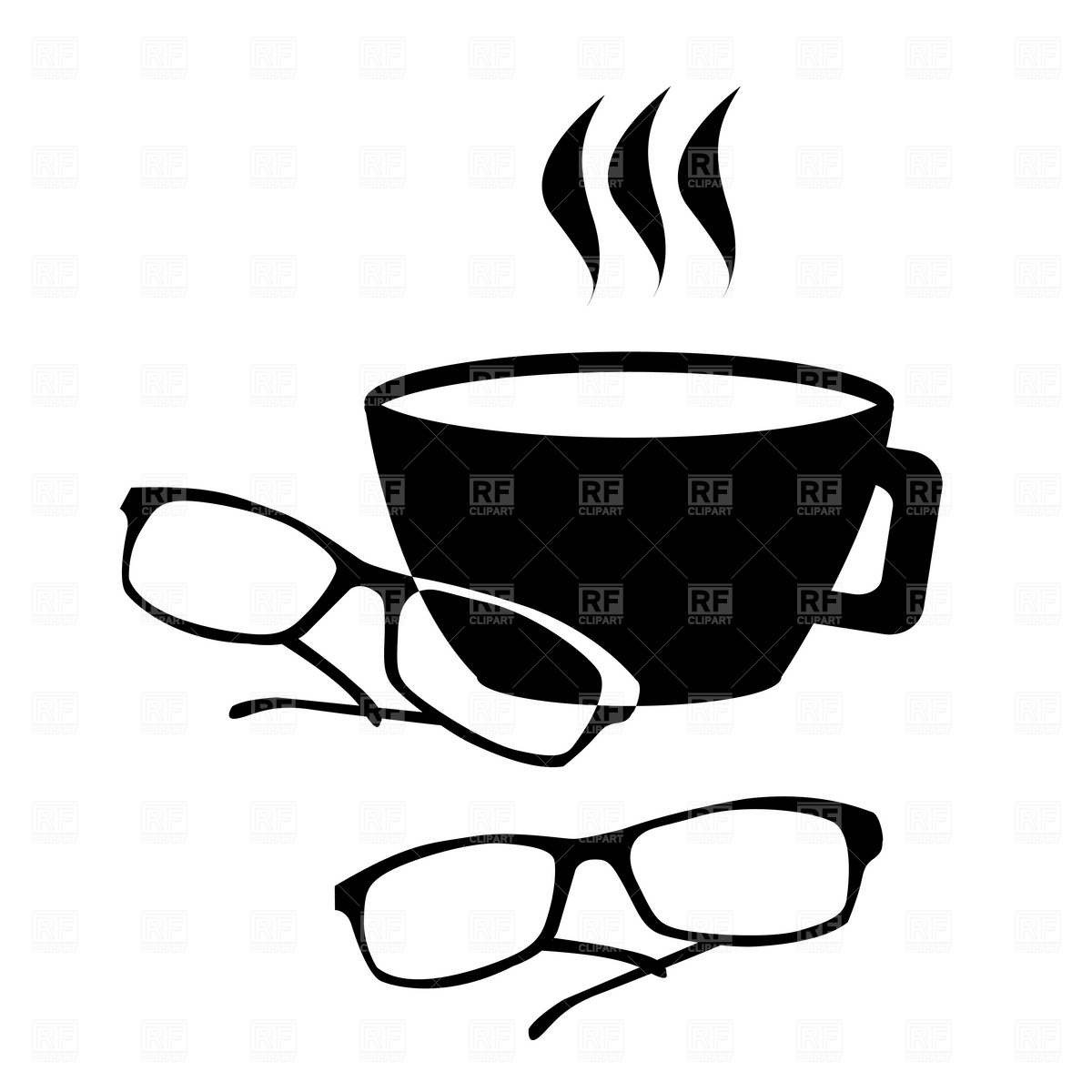 1200x1200 Spectacles And Coffee Icon Vector Image Vector Artwork Of Icons
