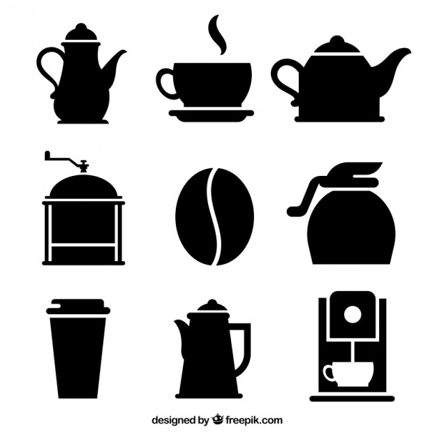 626x626 Variety Of Coffee Icons Vector Free Download