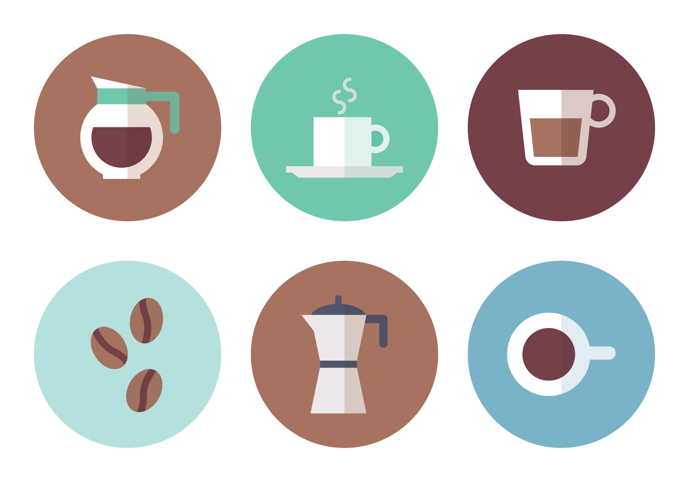 1400x980 Coffee Element Vector Icons