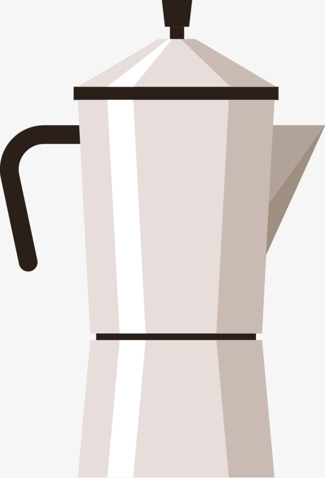 650x957 Simple Coffee Pot Vector Material, Coffee Vector, White Coffee