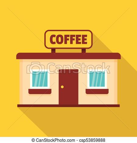450x470 Coffee Shop Icon, Flat Style. Coffee Shop Icon. Flat Illustration