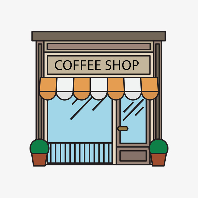 650x651 Vector Coffee Shop, Brown, Coffee Shop Stores, Vector Png And