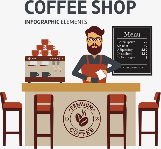650x601 Coffee Shop Vector, Hand, Coffee, Coffee Bean Png And Vector For