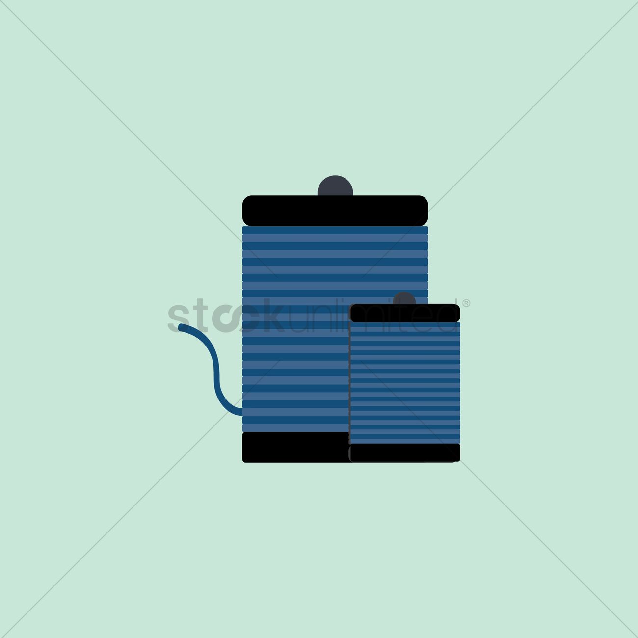 1300x1300 Electric Coil Vector Image