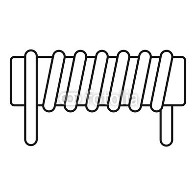 400x400 Induction Spring Coil Icon. Outline Induction Spring Coil Vector