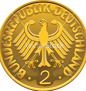 357x376 Free German 2 Dollar Coin Vector Free Vector Download 266811