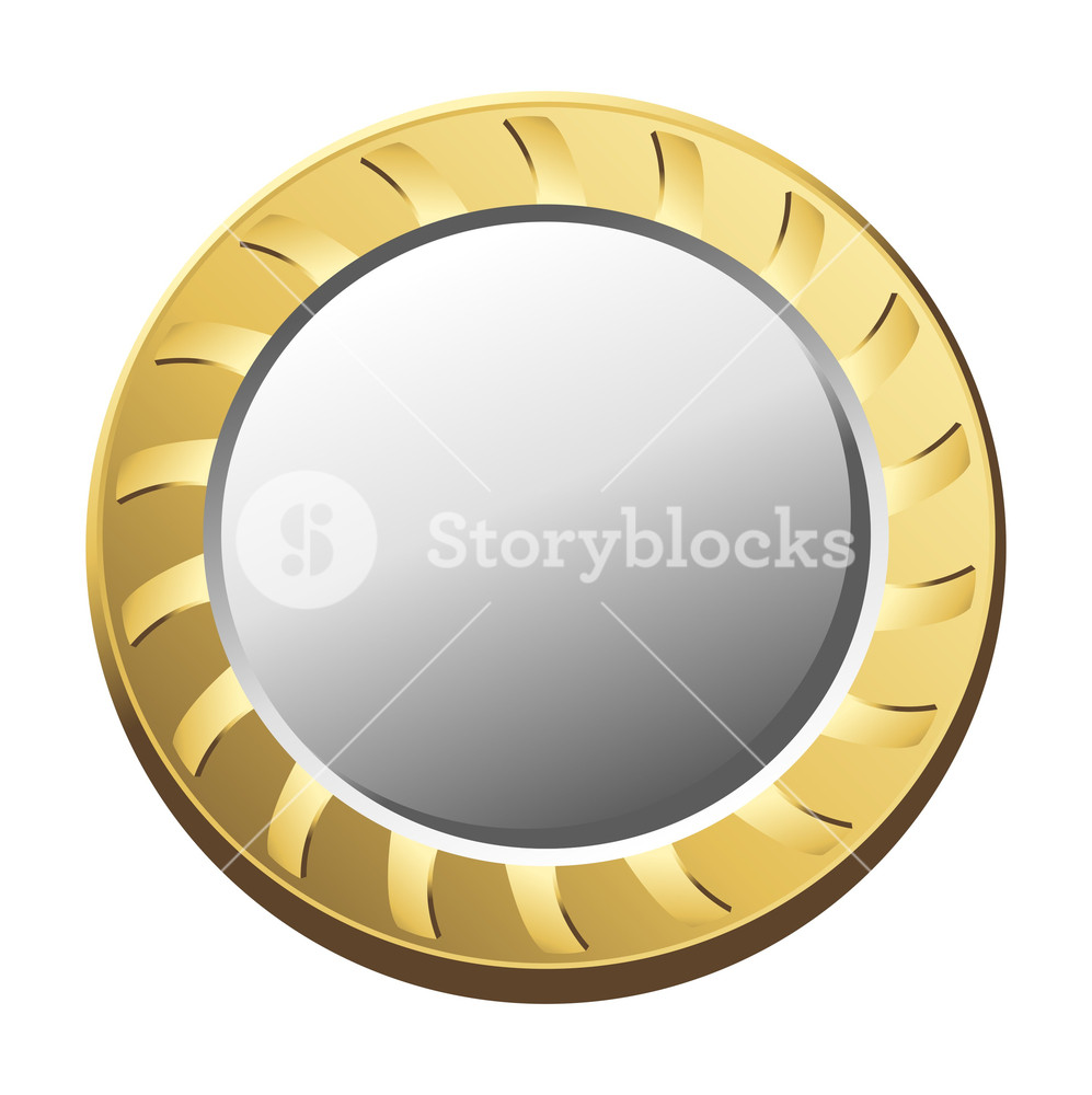 997x1000 Golden Coin Vector Royalty Free Stock Image