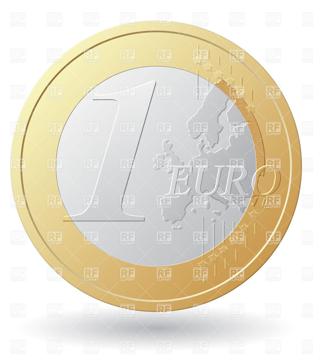 1031x1200 One Euro Coin Vector Image Vector Artwork Of Business, Finance