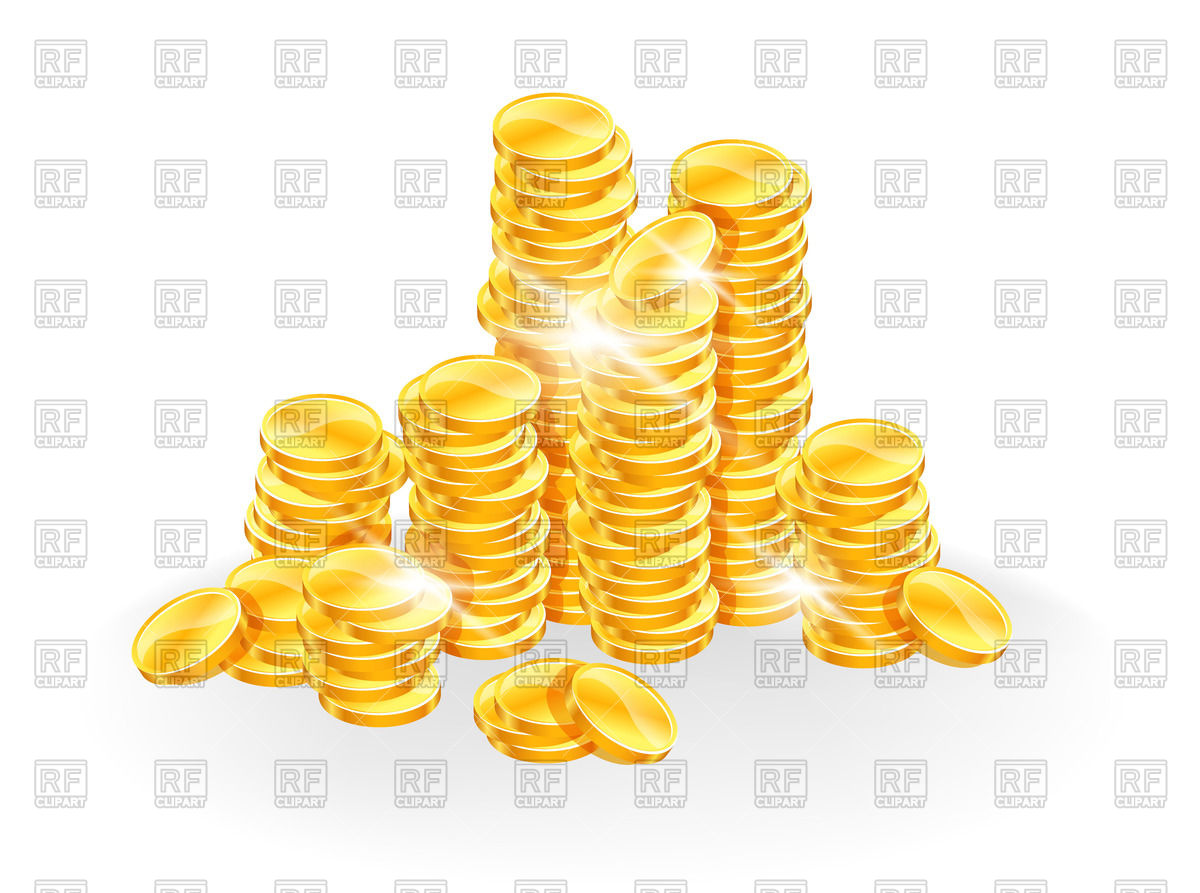 1200x893 Pile Of Golden Coins Vector Image Vector Artwork Of Business